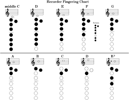 D Recorder Finger Chart Pin On Music
