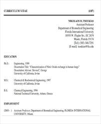 Biomedical Resume Format