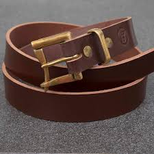 brown bridle quick release copper buckle belt jsyleatherworks