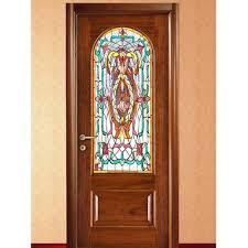 printed glass wooden door