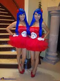 creative diy costume ideas for women thing 1 thing 2 costume