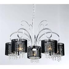 5 light black chandelier wrought