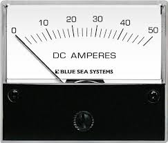 dc analog ammeter 0 to 50a with shunt blue sea systems Dc Ammeter Shunt Wiring Diagram Dc Ammeter Shunt Wiring Diagram #85 dc ammeter wiring diagram