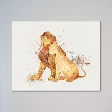 The Lion King Simba And Nala 11 X 14 Print
