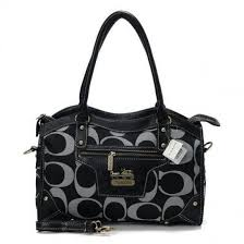 Coach Logo In Monogram Medium Black Luggage Bags CEC