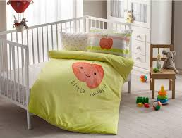 details about 100 organic cotton hallmark soft and healthy baby crib bed duvet cover set 4pcs