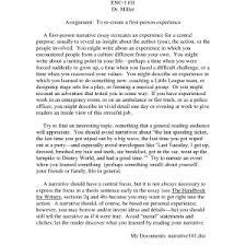 autobiographical narrative essay topics sample paper examples college narrative essay papers example of an narrative essay sample papers zgupmiv