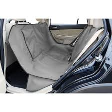 the ruffwear dirtbag seat cover in the back seat shown in granite gray