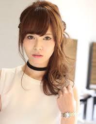 前髪ありのサイドアップsf22 ヘアカタログ髪型ヘアスタイル