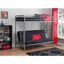 couch bunk bed convertible. Modren Couch DHP TwinOverFuton Convertible Couch And Bed With Metal Frame Ladder   Silver Inside Bunk