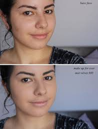 makeup forever mat velvet matifying foundation reviews