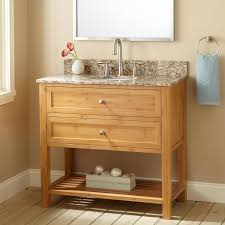 Bamboo Bathroom Cabinets 36 Narrow Depth Taren Bamboo Vanity For Undermount Sink Bathroom