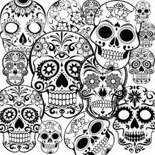 Small Picture Day of the Dead dia de los muertos Sugar Skull Coloring pages
