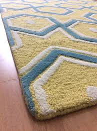 bright ideas teal and yellow rug perfect handmade wool modern blue