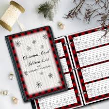 Christmas Card Mailing List Cozy Buffalo Check Christmas Card Record Download
