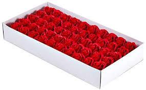 SODIAL <b>50Pcs Floral Scented Bath</b> Soap Rose Flower Petals Plant ...