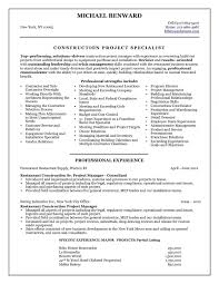 Projectager Resume Construction Sample Doc Frees Civil Project