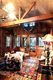 rustic cabin lodge area rugs log bath c