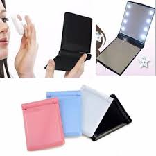 Best Purse Light Us 299 0 Makeup Cosmetic Folding Portable Compact Pocket Book Purse Mirror With Led Lights In Makeup Mirrors From Beauty Health On Aliexpress Com