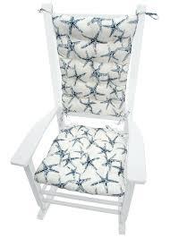 navy chair cushions sea s starfish navy blue porch rocker cushion set mildew resistant fade resistant navy chair cushions
