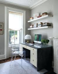 shelves above desk floating shelves above desk home office transitional with white trim gray area rug shelves above desk