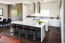 modern interior design for kitchen with best brown accent wall color and white paint ideas