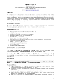 Bunch Ideas of Sample Resume Civil Engineer Project Manager In Reference