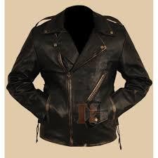heavy duty black distressed brando jacket motorcycle jackets