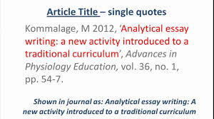 harvard style referencing an online journal article