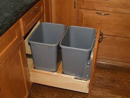 Kitchen Cabinet Garbage Can Kitchen Cabinet Pull Out Wastebasket By Cliqstudioscom Youtube