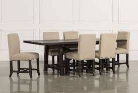 Living And Dining Room Furniture Jaxon 7 Piece Rectangle Dining Set W Upholstered Chairs Living