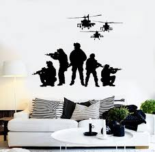 vinyl wall decal soldiers helicopters patriotic art military stickers unique gift ig4077  on patriotic vinyl wall art with vinyl wall decal soldiers helicopters patriotic art military