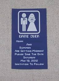 game over save the date diy magnet weddingbee photo gallery i think i got 12 magnets per sheet i just threw them in small plain white invitation envelopes also from walmart then got stickers from the dollar store