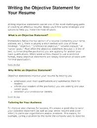 Objectives Good Objective To Put On Resume For Retail Job Uwaterloo Co