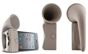 speakers iphone. bone horn stand iphone speaker speakers iphone