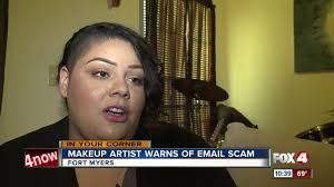 makeup artists warms of email scam