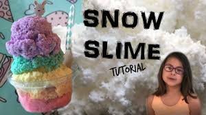 crunchy snow slime recipe and tutorial easy and satisfying