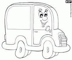 Small Picture Vehicles on road coloring pages printable games