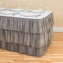 tiered organza table skirt