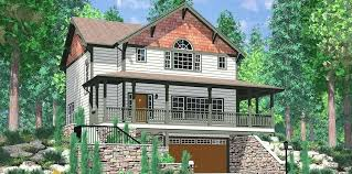 hillside walkout basement house plans new home with sloping lot definition francais