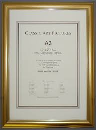 a3 iso size dome gold style quality picture frame