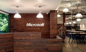 rustic modern office. Office \u0026 Workspace. Microsoft Reception Desk With Rustic Wood Style Design And Industrial Lighting Modern N