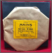 937.0, application for springs, wire forms, control linkages, armature binding, ceramic cutting and a variety of industrial uses, pack count 1, meets/exceeds meets astm a228 Steel Music Wire 38 110 Diameter Spring Tempered One Pound Roll Malin S Ebay