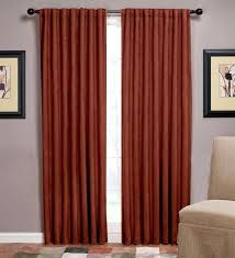 presto rust color jacquard curtain