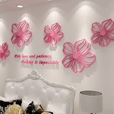 Small Picture Aliexpresscom Buy Beautiful Flowers Design 3D Acrylic Wall