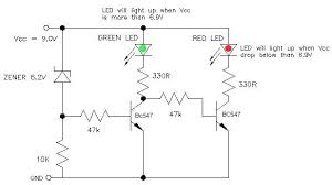 9v battery status indicator circuit picture of 9v battery status indicator circuit