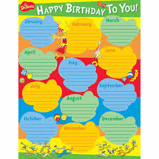Dr Seuss Chart Dr Seuss Birthday Chart