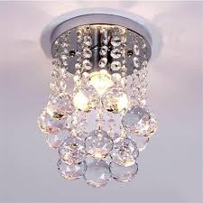 goeco mini modern crystal chandeliers flush mount rain drop pendant ceiling light for girls room bedroom6 29inch