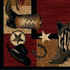 texas rugs western boots 5 x 8 area rug