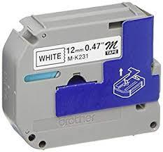 black on white label tape 12mm tze 231 p touch compatible for brother pt d200 pt d210 pt h100 pt h110 ptd400ad pt 1290